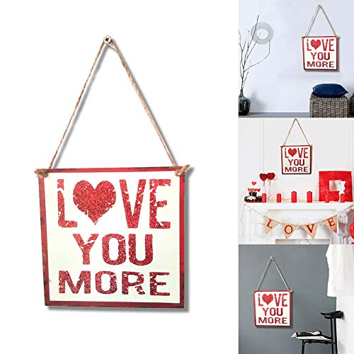 Dds5391 Refined Love You More Letters Wooden Hanging Sign Home Garden Door Wall Valentine Decor from dds5391