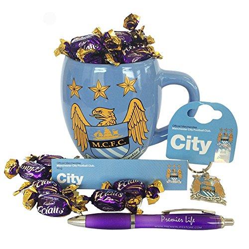 Manchester City FC Hamper with Mug, Key ring and Cadbury (Manchester Ring)
