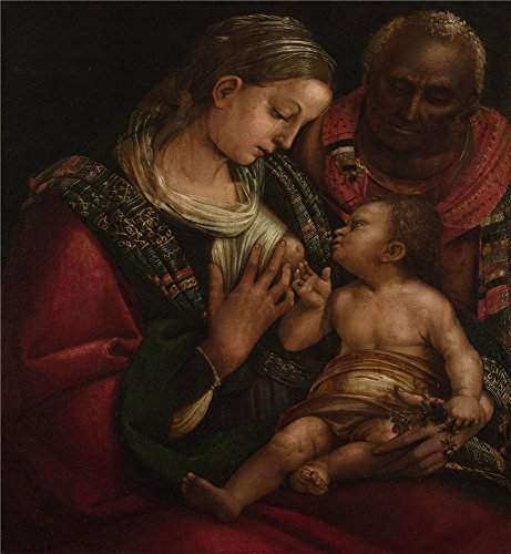 (The Polyster Canvas Of Oil Painting 'Luca Signorelli The Holy Family ' ,size: 8 X 9 Inch / 20 X 22 Cm ,this Vivid Art Decorative Prints On Canvas Is Fit For Gym Decor And Home Decoration And Gifts )