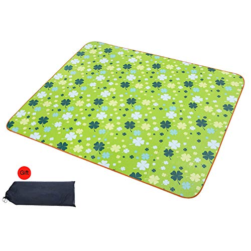STYLOWY Large Waterproof Portable Picnic Blanket Outdoor Mat Sandproof and Waterproof Foldable Soft Picnic Blanket Tote for Camping Hiking Grass Travelling Beach Quick Drying Big with Storage Bag