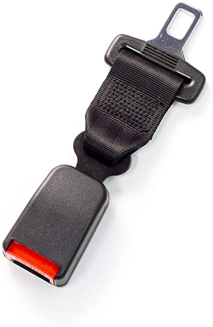 Buckle Up and Drive Safely Again with 7//8 Inch Metal Tongue Width Rigid 5 Seat Belt Lengthening Accessory Black E-Mark Safety Certification