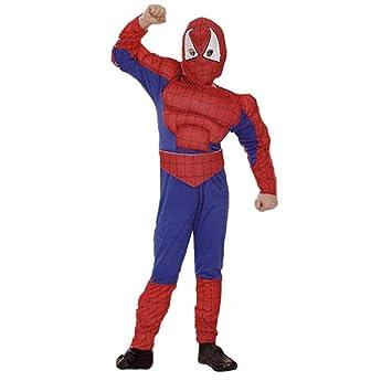 Disfraz niño Spiderman musculoso - talla 8 - 10 años (130-140CM ...