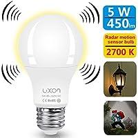 Motion Sensor Light Bulb 5W Smart Bulb Radar Dusk to Dawn...