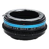 Vizelex Polar Throttle Lens Mount Adapter - Nikon Nikkor F Mount G-Type D/SLR Lens to Sony Alpha E-Mount Mirrorless Camera Body with Built-In Circular Polarizing Filter