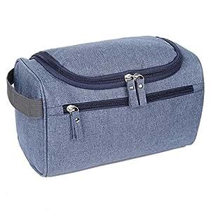 EGOGO Toiletry Bag Travel Overnight Wash Gym Shaving Bag for Men and Women Ladies E528-3 (Blue)
