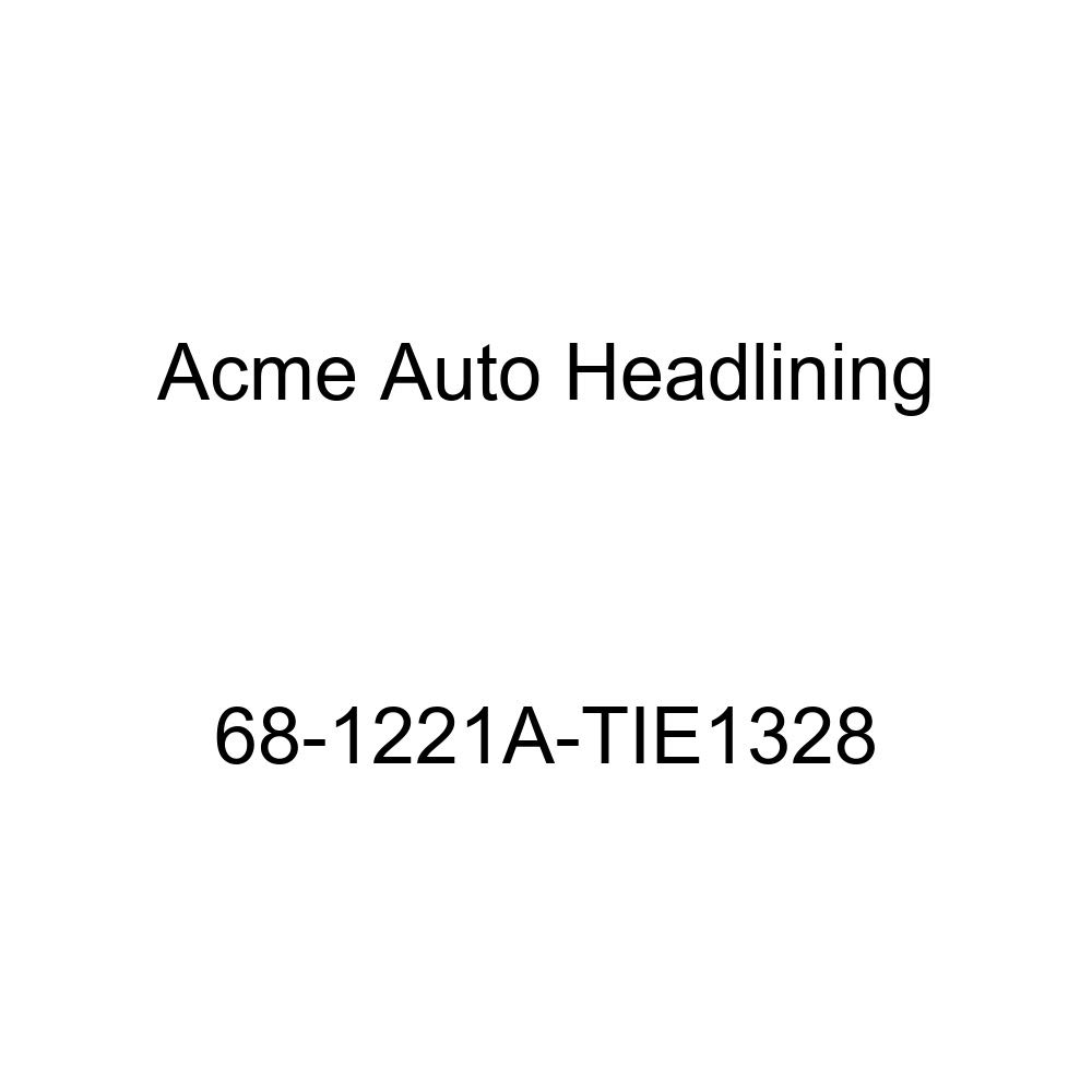 Acme Auto Headlining 68-1221A-TIE1328 Red Replacement Headliner Oldsmobile 442 Cutlass /& F85 2 Dr Coupe /& Hardtop 6 Bow