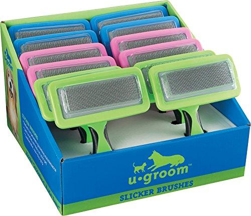 UGroom Slicker Brush Displays, 12 (Ugroom Slicker)