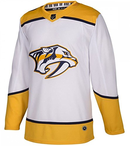 adidas Nashville Predators Road White NHL Men's Climalite Authentic Team Hockey Jersey (52 Large)