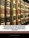 Greek Lyric Poetry, George Stanley Farnell, 1142198685