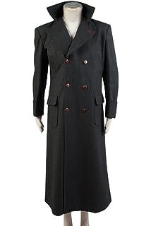 Details zu Sherlock Holmes Benedict Cumberbatch Winter Echt Schwarze Wolle Langer Mantel