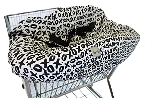 itzy-ritzy-sitzy-shopping-cart-and-high-chair-cover-xoxo-black-white