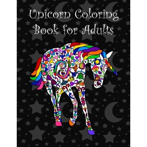 Unicorn coloring book for adults                                Paperback                                                                                                                                                                                – March 28 2016