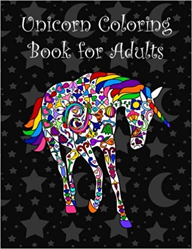 Amazon Unicorn Coloring Book For Adults 9781530792023 Brothergravydesigns Books