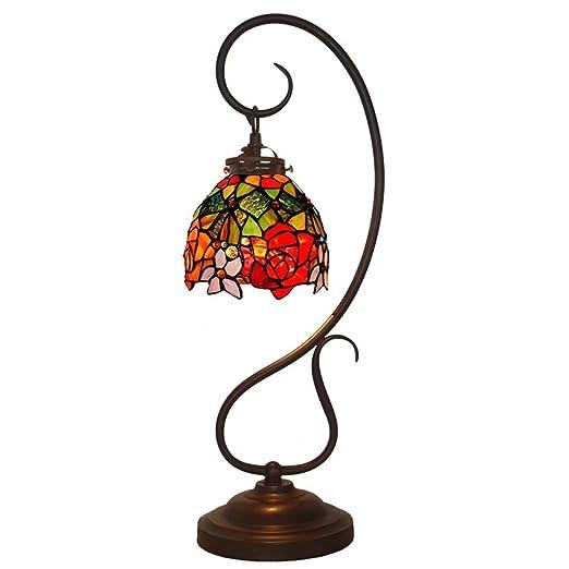 Amazon.com: Colores de moda Lámpara de mesa de vidrio ...
