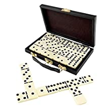 Domino Set, Premium Classic 28 Pieces Double Six In Durable Wooden Brown Box For Boys , Girls ,Party Favors And Anytime Use Up To 2-4 Players - By Katzco
