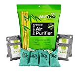 All Natural 100% MOSO BAMBOO CHARCOAL Air Purifier & Odor Removal. Non-Toxic, Fragrance & Chemical Free. Activated Carbon Bags PREVENT MOLD, MILDEW & MOISTURE. Set of 8 Bags (various shapes & sizes)