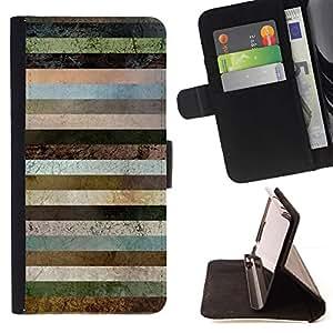 Lines Texture Pattern Brown - Modelo colorido cuero de la carpeta del tirón del caso cubierta piel Holster Funda protecció Para Samsung Galaxy A3