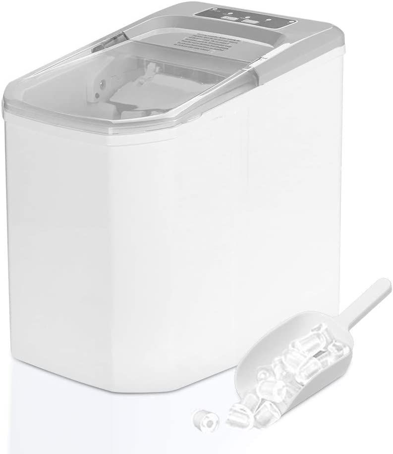 LENXH Ice Maker Energy-Saving Portable Electric Ice Machine Countertop Compact High Efficiency Ice Maker Machine with Ice Shovel