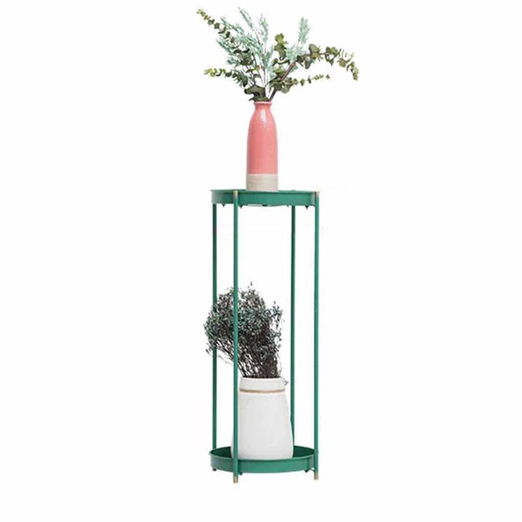JiuErDP Fioriera in Ferro battuto verde rosa Balcone Fiore mensola Soggiorno Pavimento al Piano Interno mensola di Fiori Supporto Fiore Multistrato