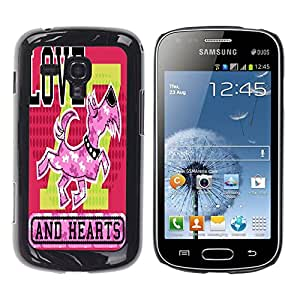 Dragon Case - FOR Samsung Galaxy S Duos S7562 - Take one thing with another - Caja protectora de pl??stico duro de la cubierta Dise?¡Ào Slim Fit