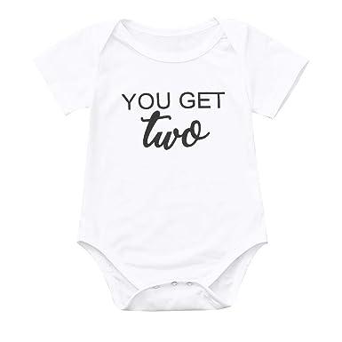 4362b51a37b Mealeaf ❤ Toddler Baby Boys Girls Short Sleeve Letter Print Romper Jumpsuit  Clothes