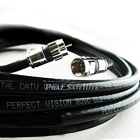 200ft Perfect Vision Solid Copper 3ghz 75 Ohm Coaxial Rg6 Directv, Dish Network, Digital