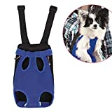 Dog Carrier | Comfortable Legs Out Front Dog Carrier Backpack | Travel Dog Cat Pet Bag for Travel Cycling with Adjustable Shoulder Strap and Inner Collar | Vibrant Blue , M