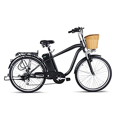 Electric Bike - Jushye 26-inch Camel Male Electric Bicycles with a Basket, Low-Carbon Environmental Protection, Superb Technology Electric Bikes For Christmas Gift , Ship From US