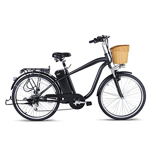 Electric Bike - Jushye 26-inch Camel Male Electric Bicycles with a Basket, Low-Carbon Environmental Protection, Superb Technology Electric Bikes For Christmas Gift , Ship From US (Lower Mountain Fork)