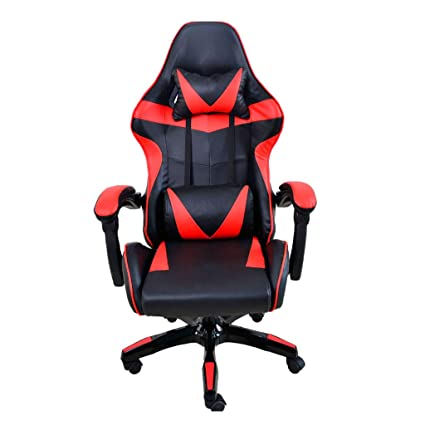 Simple Comfortable Computer Chair,Office Chair Leather Desk Gaming Chair,High Back Ergonomic Adjustable