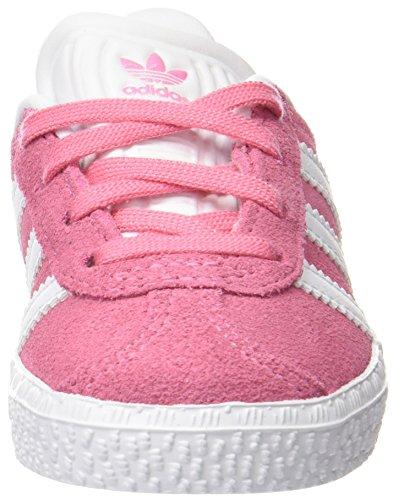 adidas Unisex-Kinder Gazelle C Fitnessschuhe, Rosa EASPNK/FTWWHT/FTWWHT