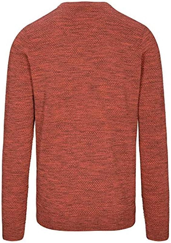 BASEFIELD sweter V nowoczesny Fit - arbuz: Odzież