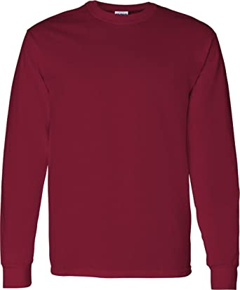 Gildan - Heavy Cotton Long Sleeve T-Shirt at Amazon Men's Clothing ...