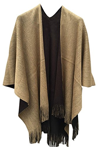 - AuntTaylor Juniors Open Front Batwing Sleeve Waterfall Draped Cardigan Brown