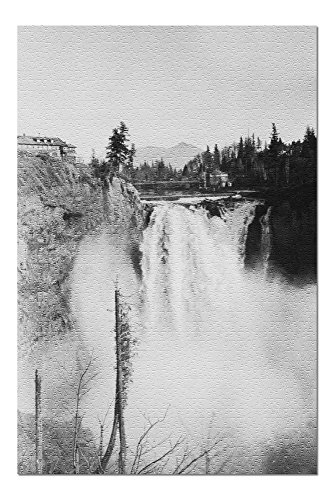 Snoqualmie, WA - Falls and Lodge Photograph (20x30 Premium 1000 Piece Jigsaw Puzzle, Made in USA!) ()