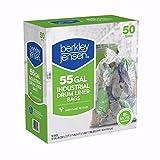 55 gallon drum liners - Berkly & Jensen 1.2mil Industrial Drum Liner Bags, 55 Gallon, 50 Bags