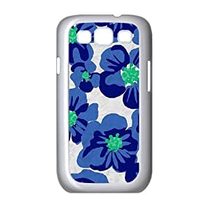 Blue Flowers Unique Design Cover Case for Samsung Galaxy S3 I9300,custom case cover ygtg611784