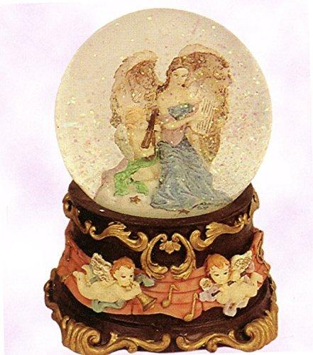 芸能人愛用 Angelic Guardian B016SF1144 Angel Holding Guardian Baby – - Sculptured樹脂水ボール音楽ボックス5 3 Holding/ 4