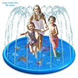 Sprinkler Pad Splash Play Mat [Upgraded] 68 Inches Outdoor Party Water Toys for Toddlers Boys Girls Children Extra Large Sprinkle Toys for Kids and Adults in Hot Summer (Blue)