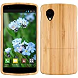 kwmobile Natural bamboo case for the LG Google Nexus 5 in light brown