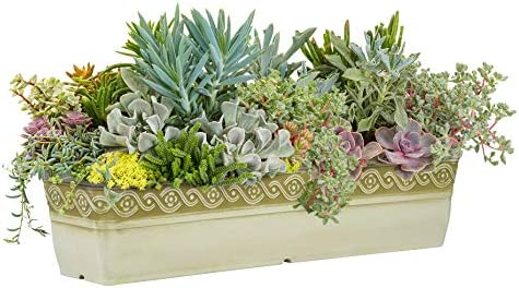 """Classic Home and Garden 9418D-514 18"""" Corinthian Trough Planter, Desert"""
