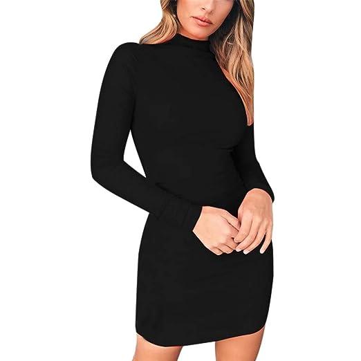 5653703c0d54 Women Turtleneck Casual Dress