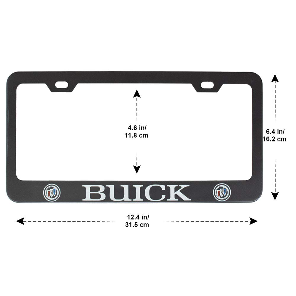 Plate Frame with Screw Caps Cover Set Fubai Auto Parts 2pcs Stainless Steel License for Chevrolet Matte Black