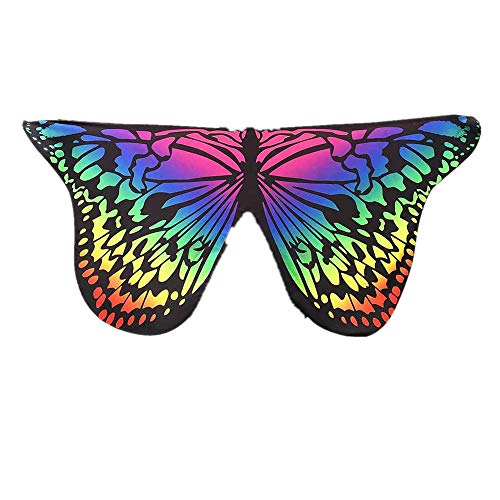 (Soft Fabric Butterfly Cape Wings Women Shawl Fairy Ladies Nymph Pixie Adult Costume Accessory)