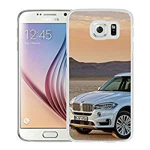 BMW X5 White Cool Abstract Picture Case For Samsung Galaxy S6 Phone Case