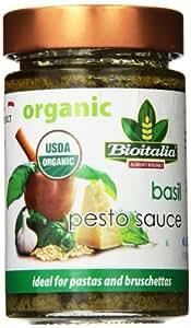 Bioitalia Ready Made Pesto Sauce, Basil, 6.35 Ounce