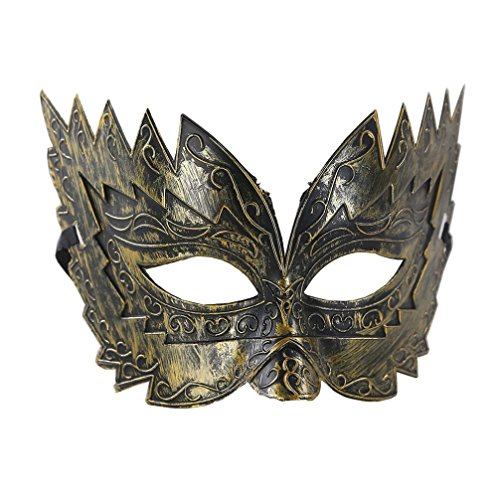Terrorist Costume For Sale (Unisex Halloween Masquerade Mask ,Cywulin Plastic Cutout Pretty Party Evening Prom Mystery Mask Accessories (Gold))