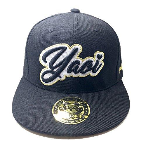 PANDAHAT Yaoi Cursive 3D Puff Embroidery Hat ()