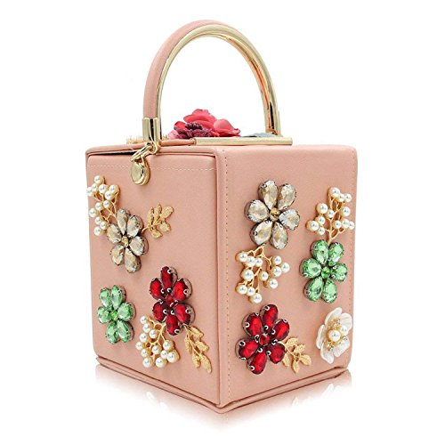 Bag Women ON Evening New Brand Day Purses Clutch Party Flower Ladies Purse Pink Rising Clutches Wedding Design Pearl Box Bags 8Zd0TWnqx