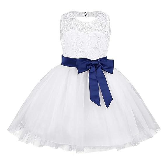 MSemis Vestidos Boda Encaje Floral para Bebé Niñas Vestido ...